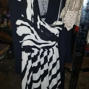 Express one shoulder zebra print dress, size 6.